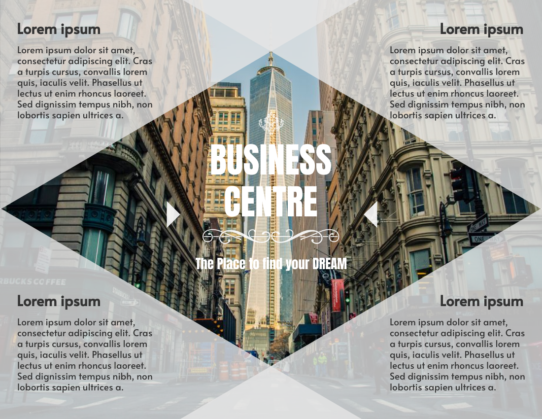 Brochure template: Business Centre Introduction Brochure (Created by InfoART's Brochure maker)