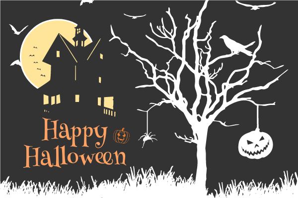 Greeting Card template: Happy Halloween Greeting Card (Created by InfoART's Greeting Card maker)