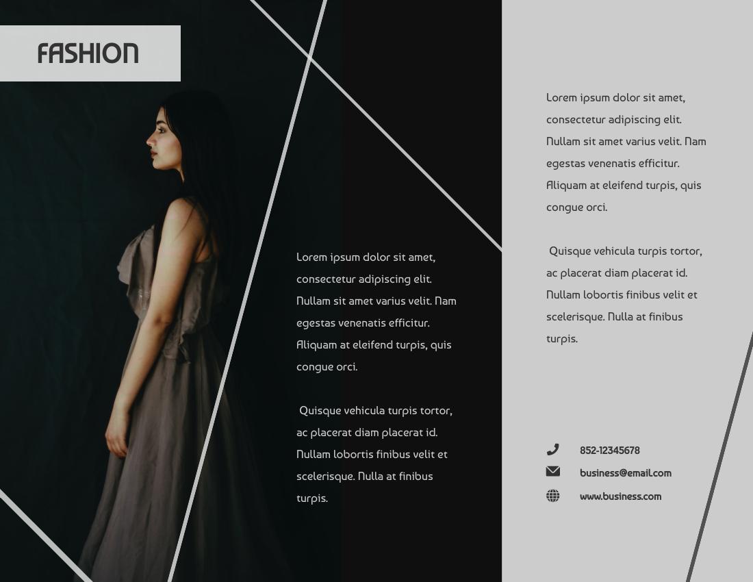 Brochure template: Fashion Modeling Brochure (Created by InfoART's Brochure marker)