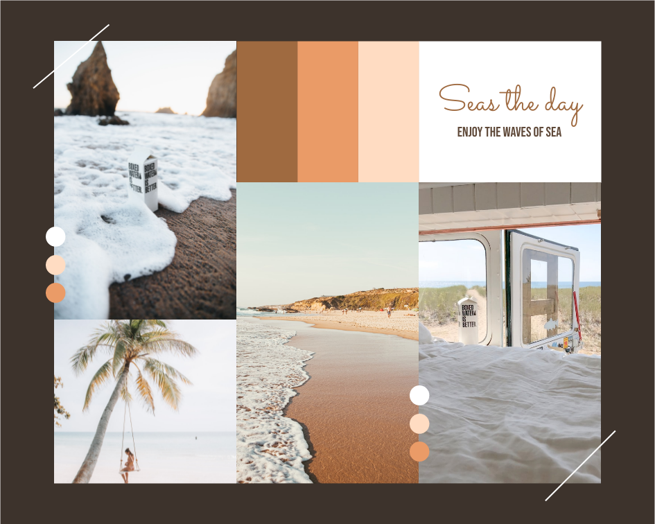 Mood Board template: Seas The Day Beach Mood Board (Created by Collage's Mood Board maker)