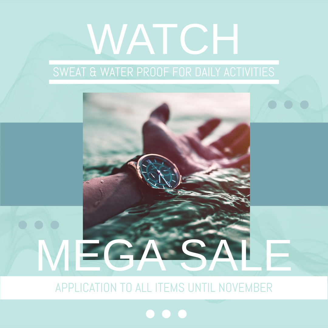 Instagram Post template: Mega Sale For Watch Instagram Post (Created by InfoART's Instagram Post maker)