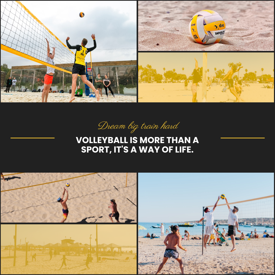 Photo Collage template: Volleyball Training Photo Collage (Created by Collage's Photo Collage maker)