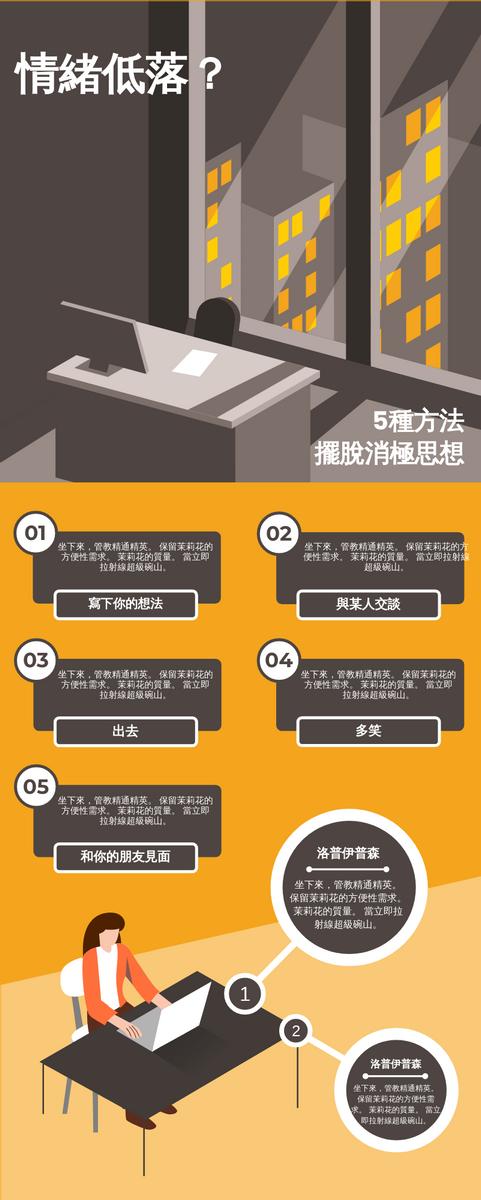 信息圖表 template: 情緒低落資料圖 (Created by InfoART's 信息圖表 maker)
