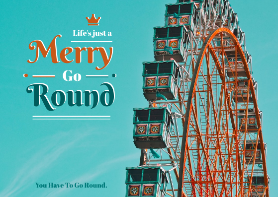 Post Card template: Merry Go Round Post Card (Created by InfoART's Post Card marker)