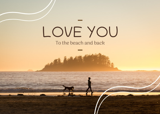 Post Card template: Love You Post Card (Created by InfoART's Post Card marker)