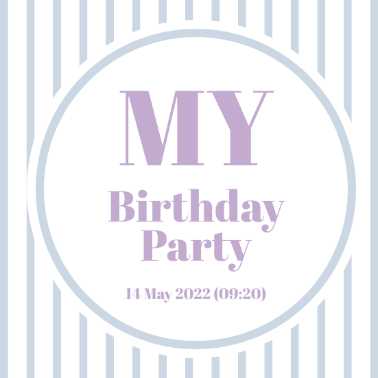 Invitation template: Birthday Party Invitation 3 (Created by InfoART's Invitation marker)