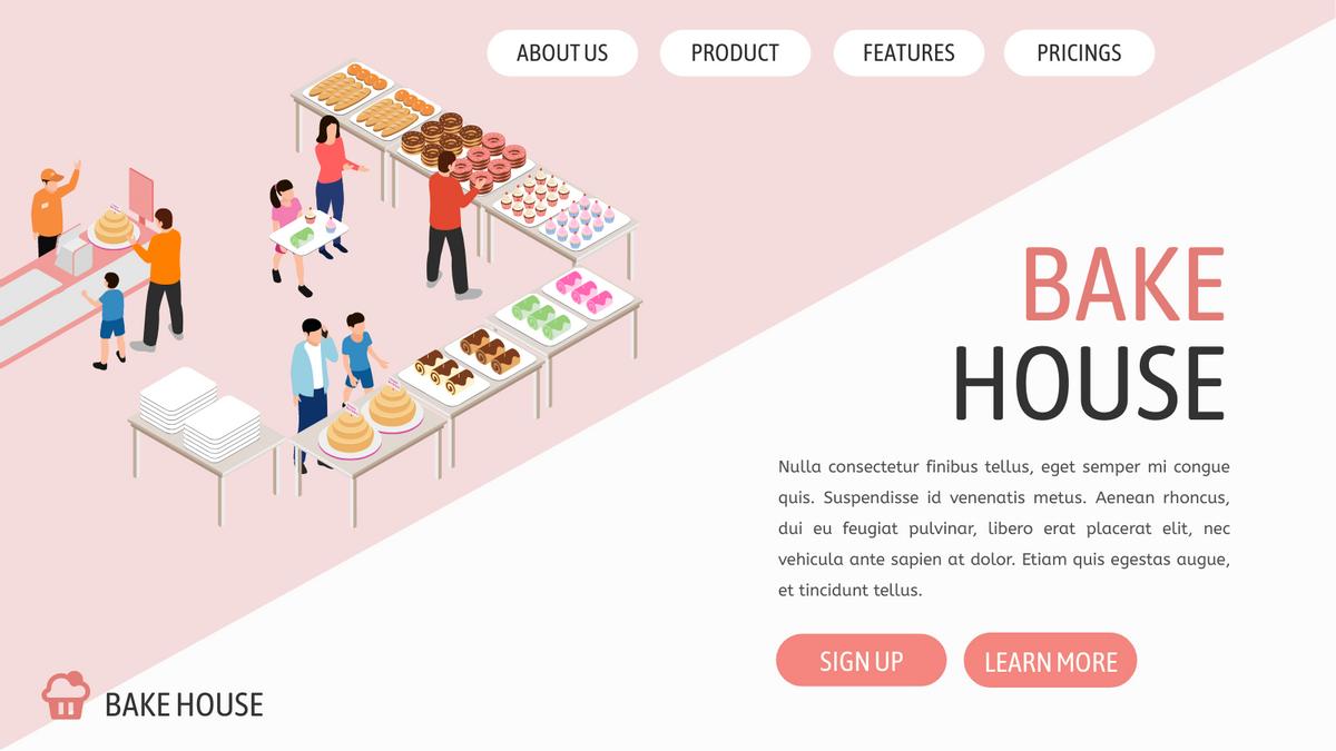 Isometric Diagram template: Bake Shop (Created by InfoART's Isometric Diagram maker)