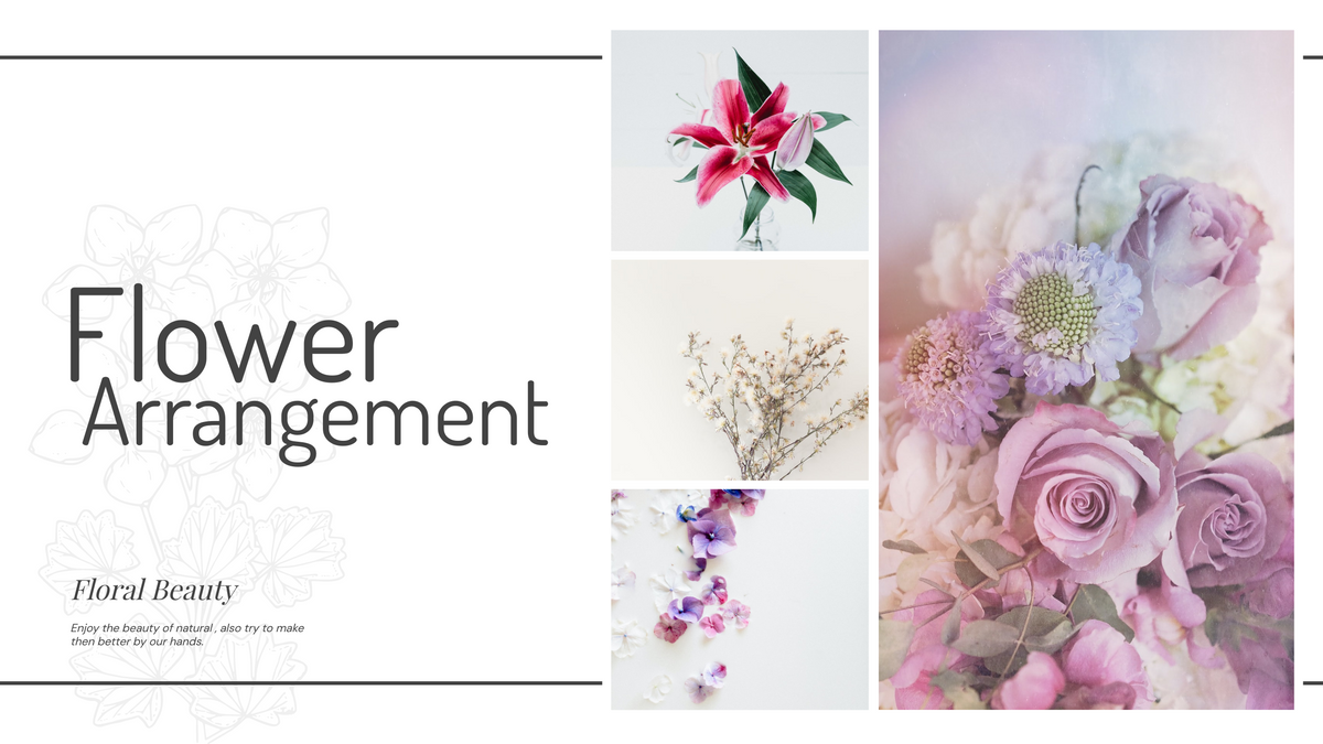 YouTube Channel Art template: Flower Arrangement Learning YouTube Channel Art (Created by Collage's YouTube Channel Art maker)