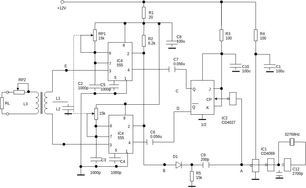 Circuit Diagram template: Pulse Width Modulator (Created by Diagrams's Circuit Diagram maker)