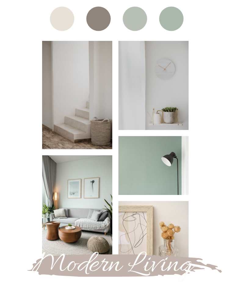 Mood Board template: Living Room Inspiration Mood Board (Created by Collage's Mood Board maker)