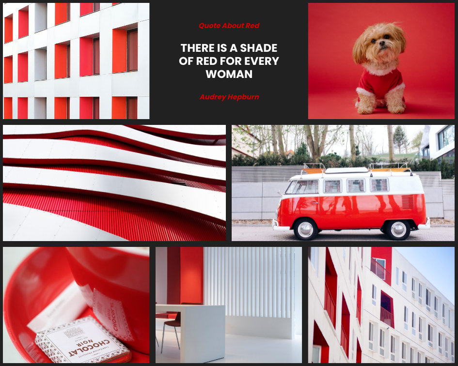 Mood Board template: Shade Of Red Mood Board (Created by Collage's Mood Board maker)