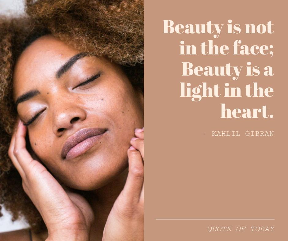 Facebook Post template: Beauty Inspirational Quote Facebook Post (Created by InfoART's Facebook Post maker)
