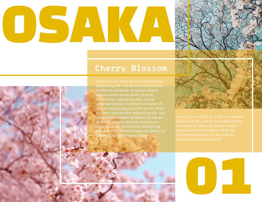 Brochure template: Cherry Blossom Brochure (Created by InfoART's Brochure marker)
