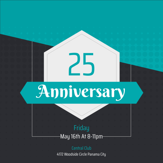 Invitation template: Anniversary Invitation (Created by InfoART's Invitation marker)