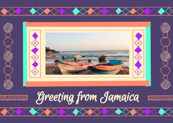 Postcard template: Travel To Jamaica Postcard (Created by InfoART's Postcard maker)