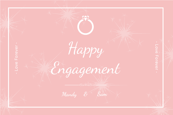 Greeting Card template: Happy Engagement Greeting Card (Created by InfoART's Greeting Card maker)