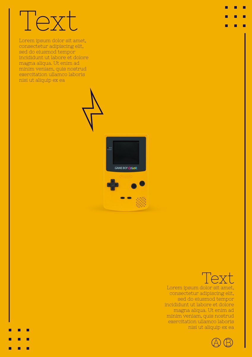 Poster template: Yellow Gaming Poster (Created by InfoART's Poster marker)