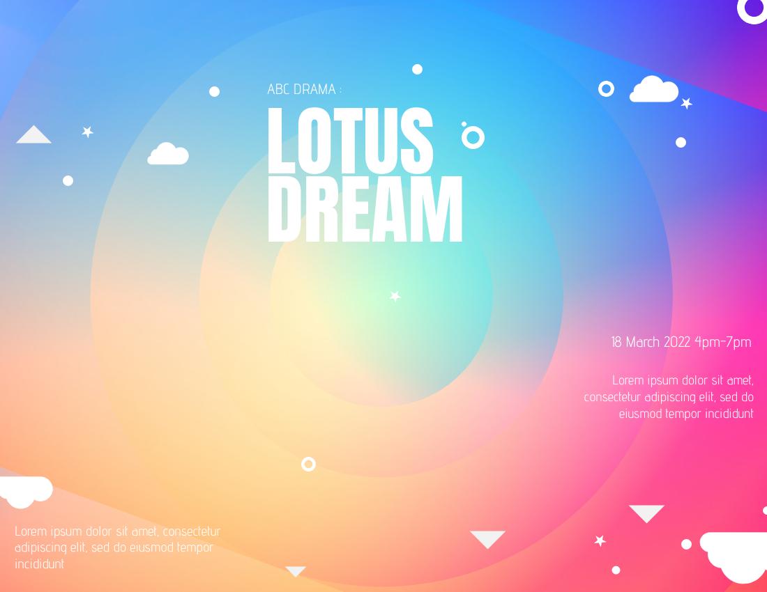 Brochure template: Artistic Drama Brochure (Created by InfoART's Brochure maker)