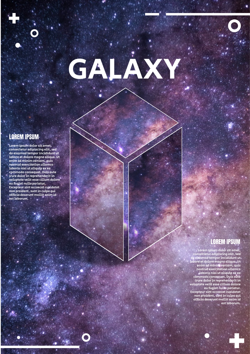 Poster template: Galaxy Poster (Created by InfoART's Poster marker)