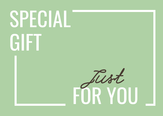 Gift Card template: Special Gift For You Gift Card (Created by InfoART's Gift Card marker)