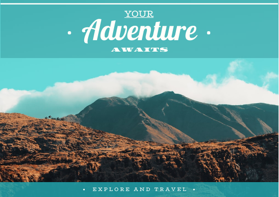 Post Card template: Your Adventure Awaits Post Card (Created by InfoART's Post Card marker)