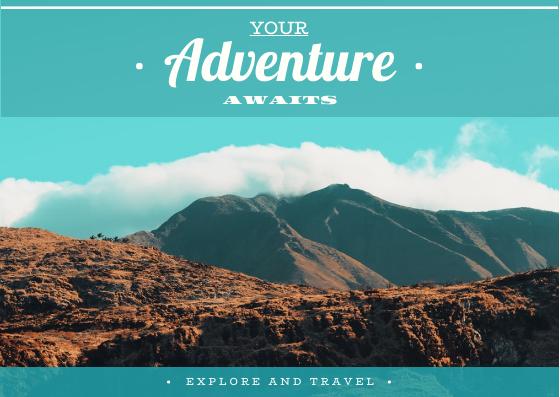 Postcard template: Your Adventure Awaits Postcard (Created by InfoART's Postcard maker)