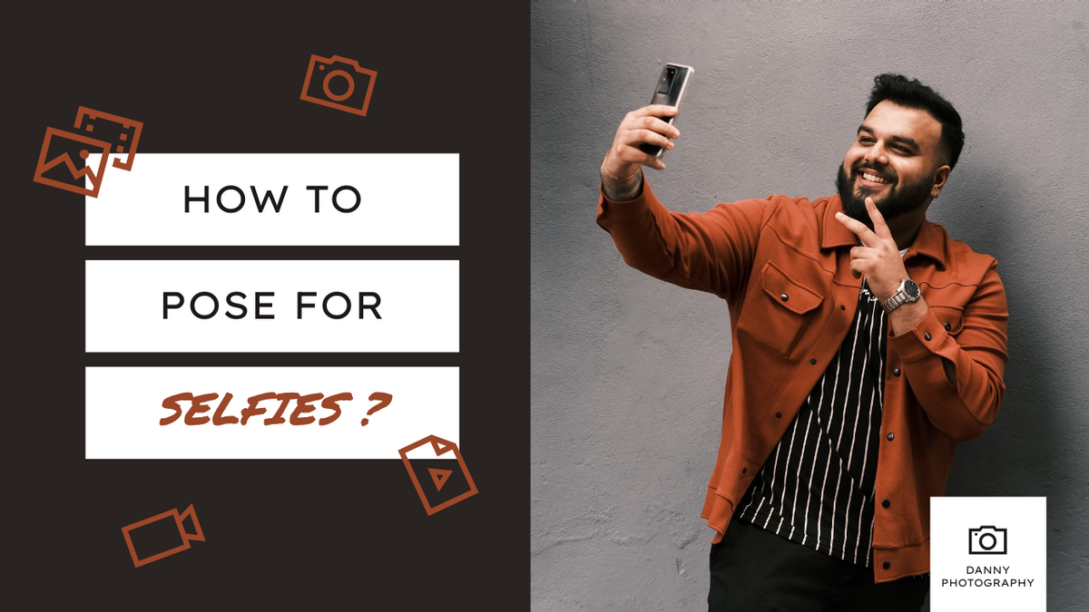 YouTube Thumbnail template: Black And Red How To Pose For Selfies YouTube Thumbnail (Created by InfoART's YouTube Thumbnail maker)