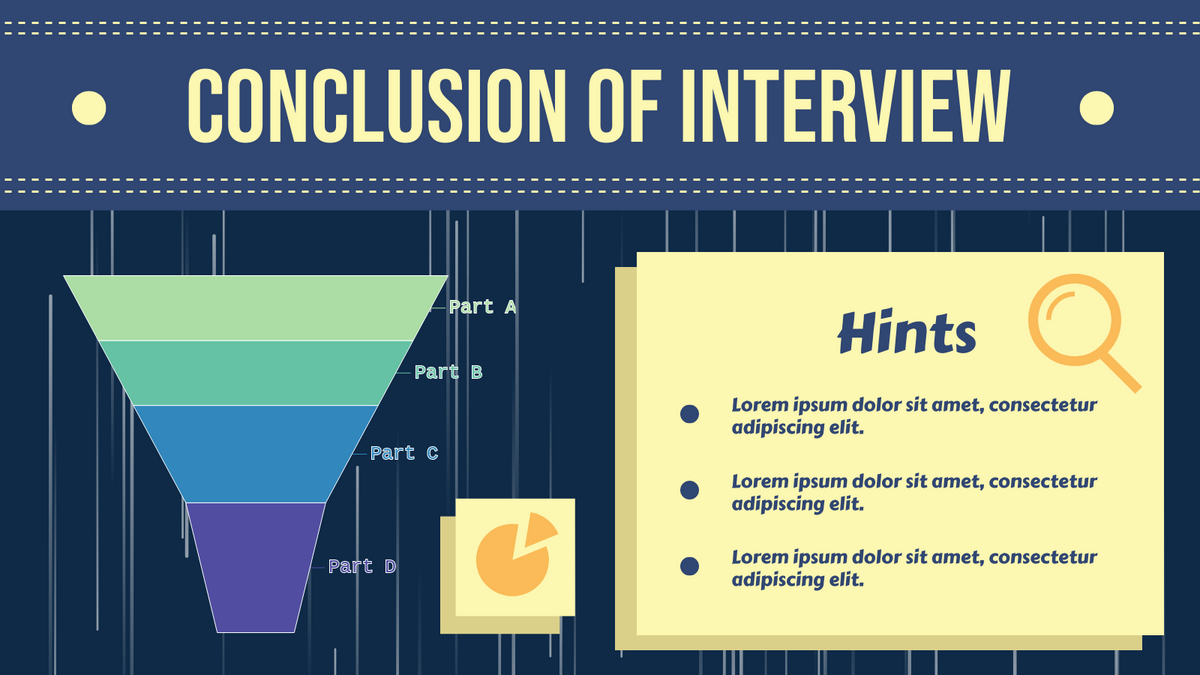 Funnel Chart template: Conclusion Of Interview Funnel Chart (Created by Chart's Funnel Chart maker)
