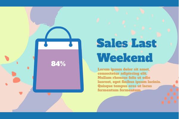 Business template: Sales Last Week (Created by InfoChart's Business maker)