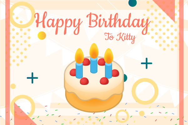 Greeting Card template: Birthday Cake Greeting Card (Created by InfoART's Greeting Card marker)