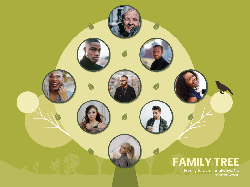Family Tree template: Tree Illustrations Family Tree (Created by Collage's Family Tree maker)