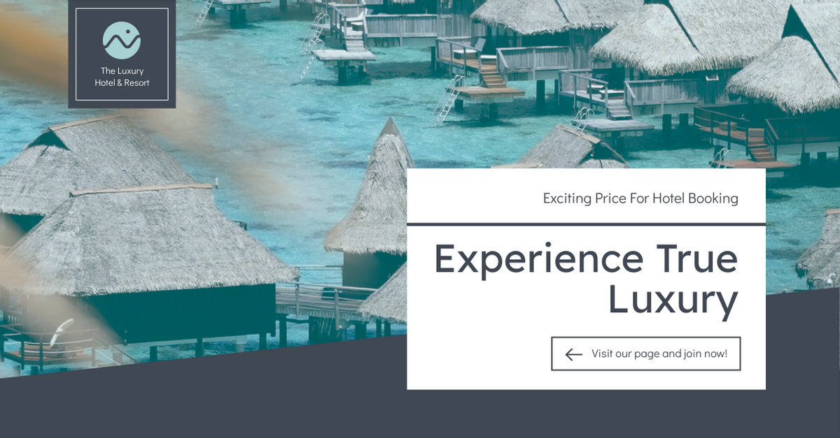Facebook Ad template: Luxury Hotel And Resort Booking Facebook Ad (Created by InfoART's Facebook Ad maker)