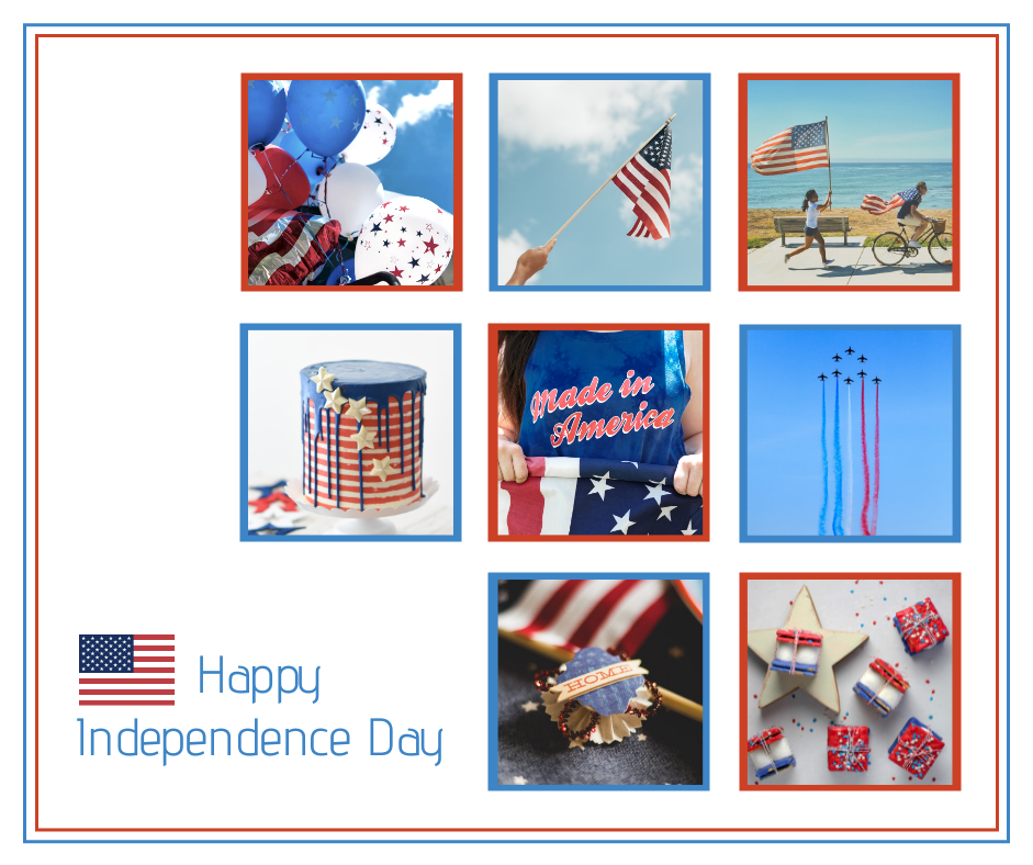 Facebook Post template: Happy 4th of July Facebook Post (Created by Collage's Facebook Post maker)