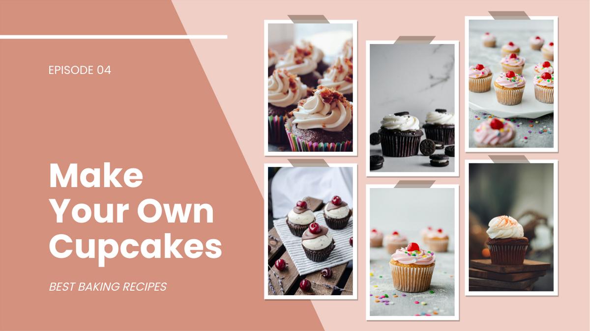 YouTube Thumbnail template: Make Your Own Cupcakes YouTube Thumbnail (Created by Collage's YouTube Thumbnail maker)