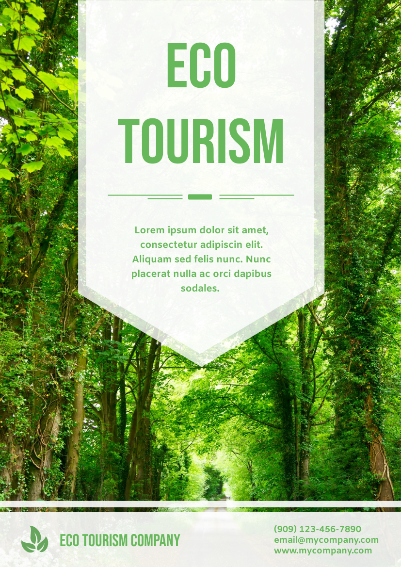 Flyer template: Eco Tourism Flyer (Created by InfoART's Flyer maker)