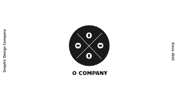 Business Card template: Ocompany Business Cards (Created by InfoART's Business Card maker)