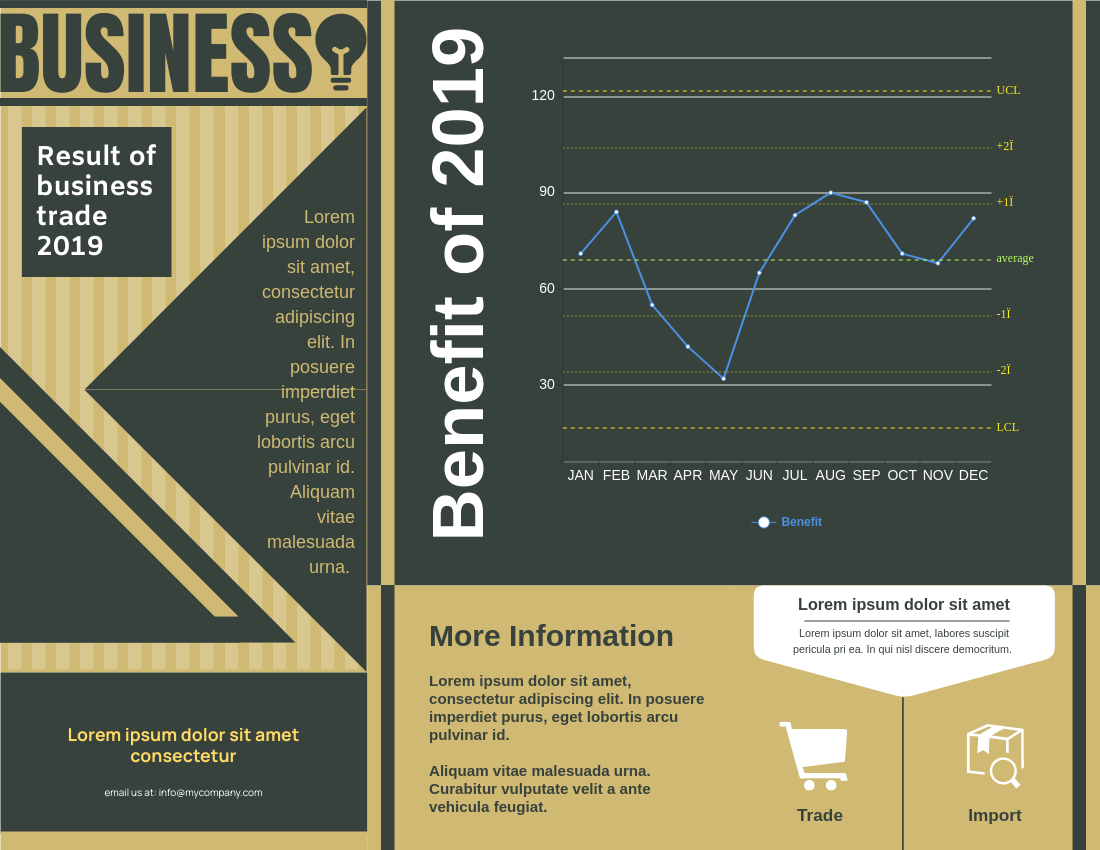 Brochure template: Business Trade Brochure (Created by InfoART's Brochure marker)