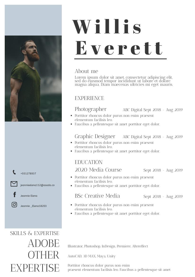 Resume template: Guy Resume (Created by InfoART's Resume maker)