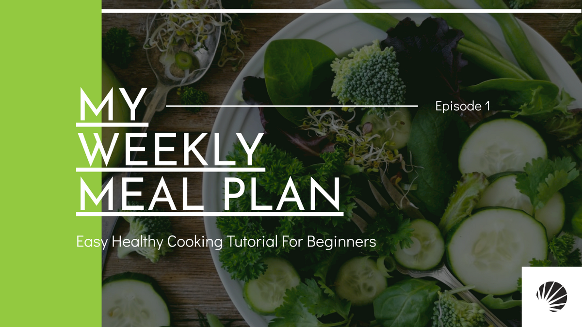 YouTube Thumbnail template: Green Vegan Weekly Meal Cooking Tutorial YouTube Thumbnail (Created by InfoART's YouTube Thumbnail maker)