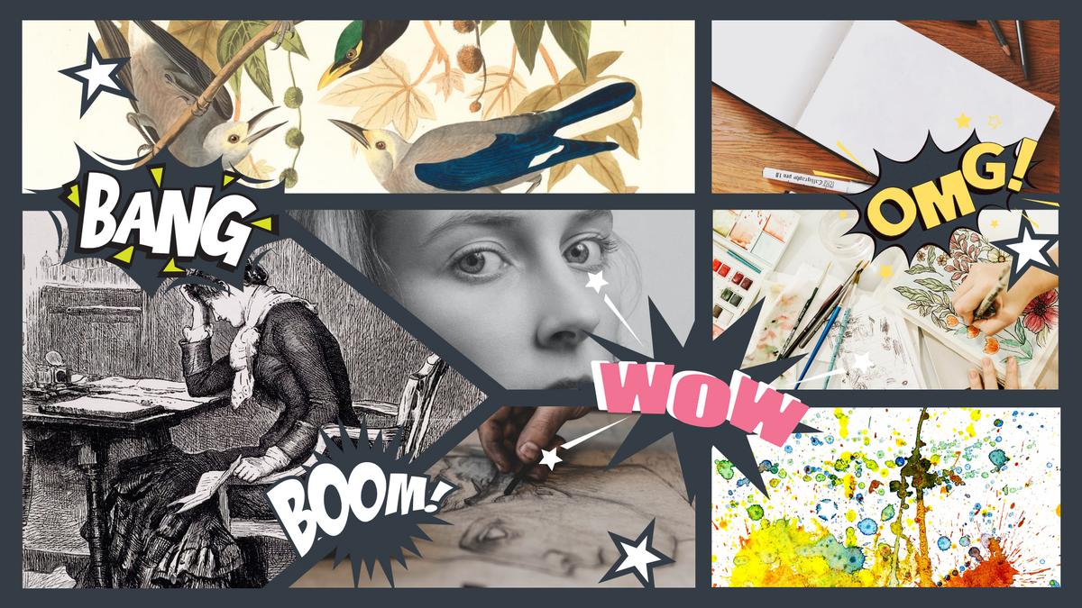 Comic Strip template: Artwork Creation Comic Strip (Created by Collage's Comic Strip maker)