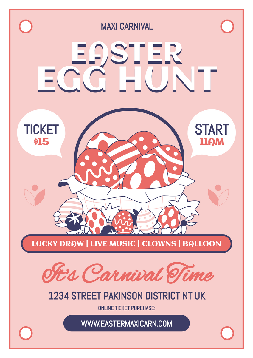 Poster template: Easter Carnival Poster (Created by InfoART's Poster maker)