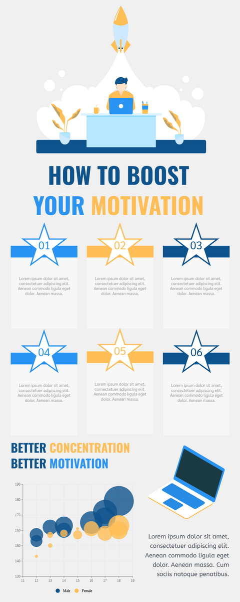 Infographic template: How To Boost Your Motivation Infographic (Created by InfoART's Infographic maker)