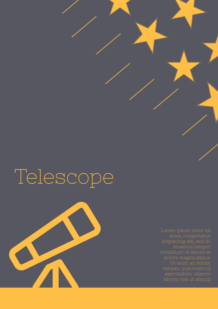 Poster template: Telescope Poster (Created by InfoART's Poster marker)