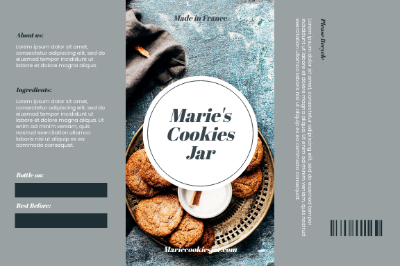 Label template: Cookies Jar Product Label (Created by InfoART's Label maker)