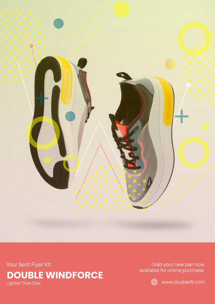 Poster template: Sneakers Poster (Created by InfoART's Poster marker)