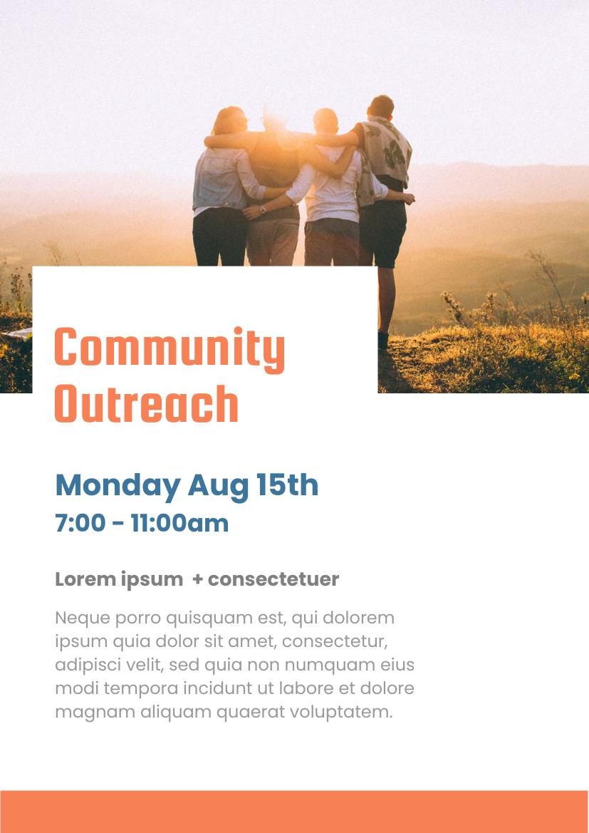 Flyer template: Community Outreach (Created by InfoART's Flyer maker)