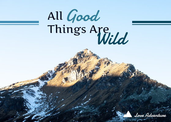 Post Card template: All Good Things Are Wild Postcard (Created by InfoART's Post Card marker)