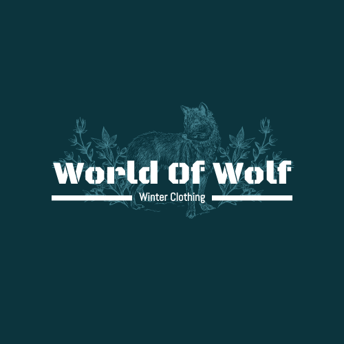 Logo template: Winter Clothing Brand Logo Generated With Illustrations Of Wolf And Plant (Created by InfoART's Logo maker)