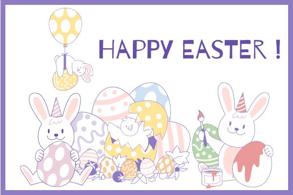 Festival Illustration template: Happy Easter Rabbit Illustration (Created by Scenarios's Festival Illustration maker)