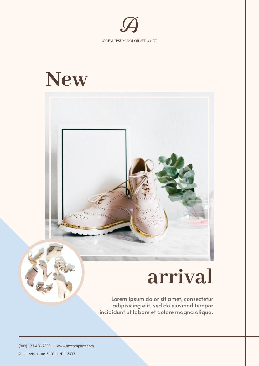 Flyer template: Shoes New arrival Flyer (Created by InfoART's Flyer maker)
